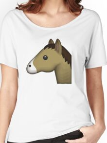 Horse Face Emoji Women's Relaxed Fit T-Shirt