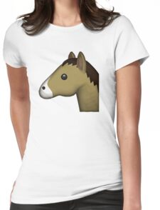 Horse Face Emoji Womens Fitted T-Shirt