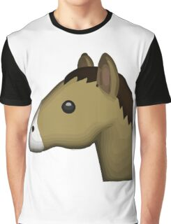 Horse Face Emoji Graphic T-Shirt