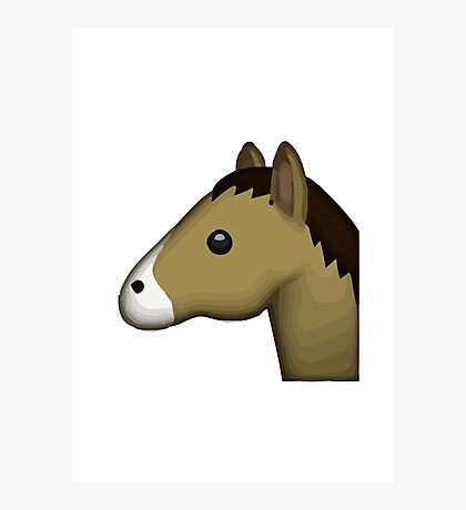 Horse Face Emoji Photographic Print