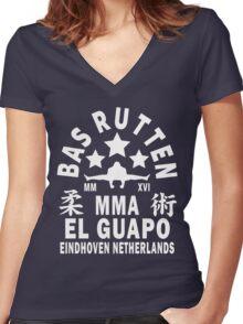 Bas Rutten Women's Fitted V-Neck T-Shirt
