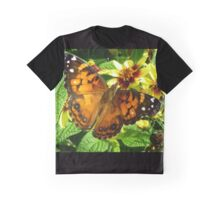 American Painted Lady Butterfly Graphic T-Shirt