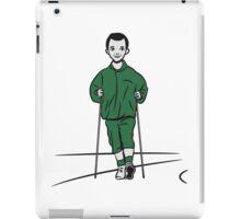 nordic walking man fun sport iPad Case/Skin