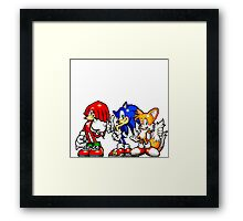 Knuckles,Sonic & Tails Framed Print