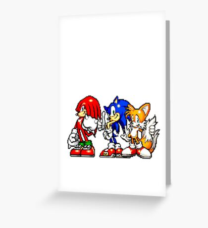 Knuckles,Sonic & Tails Greeting Card