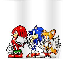 Knuckles,Sonic & Tails Poster
