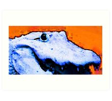 Gator Art - Swampy by Sharon Cummings Art Print
