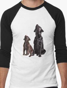 Labrador retriever puppies Men's Baseball ¾ T-Shirt