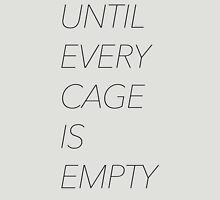 Until Every Cage Is Empty Womens Fitted T-Shirt