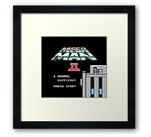 Megaman 2 - He's up on the effin' roof Framed Print