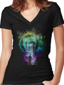 Master of ceremony Women's Fitted V-Neck T-Shirt