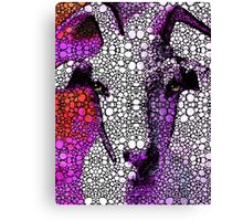 Goat - Pinky - Stone Rock'd Art By Sharon Cummings Canvas Print
