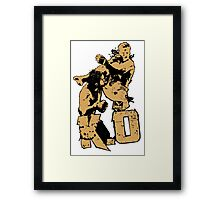 fighter deadly punch KO Framed Print