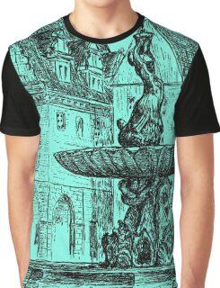 XVII century Fountain Triton in european city, Poland Graphic T-Shirt