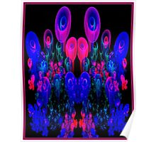 """ABSTRACT FLOWER GARDEN""Psychedelic Print Poster"