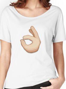 Ok Hand Sign Emoji Women's Relaxed Fit T-Shirt
