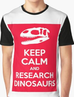 Keep Calm and Research Dinosaurs Graphic T-Shirt