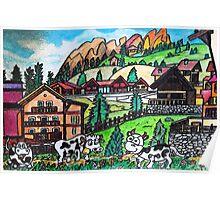 Tyroler Cows Poster