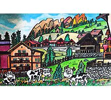 Tyroler Cows Photographic Print