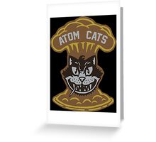 ATOM CATS Greeting Card
