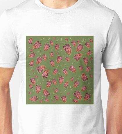 Trinidad Scorpion Chilli Peppers Green Unisex T-Shirt