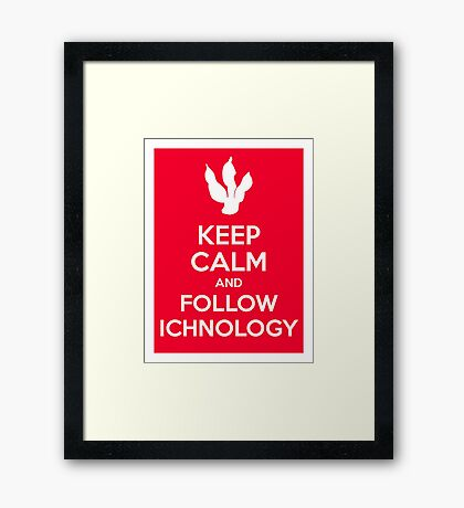 Keep Calm and Follow Ichnology Framed Print