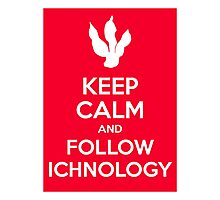 Keep Calm and Follow Ichnology Photographic Print