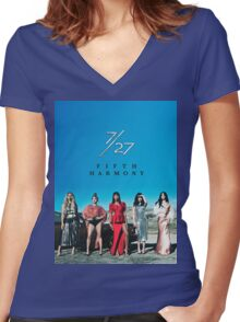 7/27 - FIFTH HARMONY Women's Fitted V-Neck T-Shirt