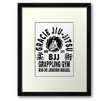 Gracie Jiu Jitsu Framed Print
