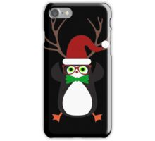 Funny Hipster Xmas Penguin iPhone Case/Skin