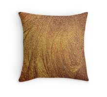 Ice Gold Throw Pillow