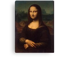 Mona Lisa - 16th Century Copy at the Hermitage by Unknown Artist Canvas Print
