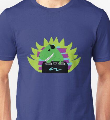 T-Rex Dinosaur DJ Unisex T-Shirt