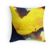 This volcano is mine Throw Pillow