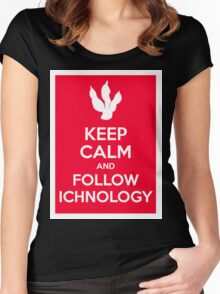 Keep Calm and Follow Ichnology Women's Fitted Scoop T-Shirt