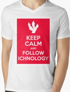 Keep Calm and Follow Ichnology Mens V-Neck T-Shirt
