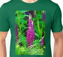 Purple Lupine Flower Unisex T-Shirt