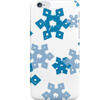 Blue Snowflakes iPhone Case/Skin