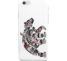 Kodiak - Original Haida, Tlingit Grizzly Bear Art - Red iPhone Case/Skin