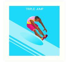 Athletics Jump 2016 Summer Games  Art Print