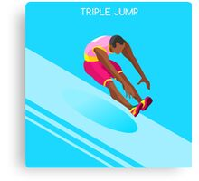 Athletics Jump 2016 Summer Games  Canvas Print