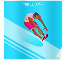 Athletics Jump 2016 Summer Games  Poster