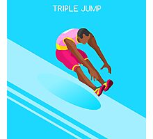 Athletics Jump 2016 Summer Games  Photographic Print
