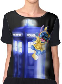 Doctor Stitch + Pikacchu  Chiffon Top