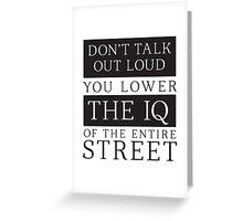 Don't Talk Out Loud Sherlock Holmes Design Greeting Card