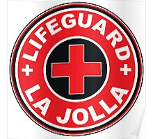 LIFEGUARD LA JOLLA SURFING CALIFORNIA SURFER BEACH SURFBOARD Poster