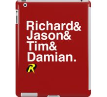 Richard & Jason & Tim & Damian. Robin T-shirt and more  iPad Case/Skin