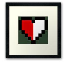 Half of Heart Framed Print