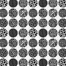 Decorative Circles - Black and White by Artberry