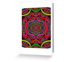"""ORIENTAL"" Psychedelic Art Deco Print Greeting Card"